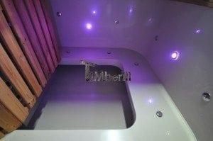Luxus QUADRATISCHE Hot Tub mit Kunststoffeinsatz 171