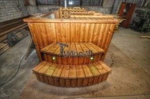 Luxus QUADRATISCHE Hot Tub mit Kunststoffeinsatz 201