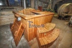 Luxus QUADRATISCHE Hot Tub mit Kunststoffeinsatz 71