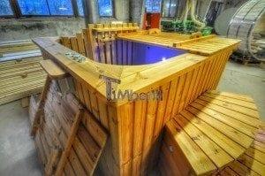 Luxus QUADRATISCHE Hot Tub mit Kunststoffeinsatz 81