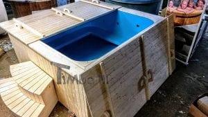 Badetonne eckig Micro Pool für 16 Personen Party tub 13