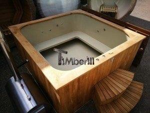 Hot tub mit Holzbefeuerung eckig Modell 1