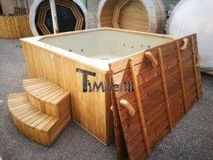 Hot tub mit Holzbefeuerung eckig Modell 10
