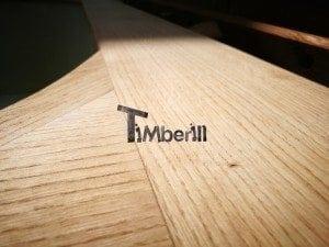 Hot tub mit Holzbefeuerung eckig Modell 12