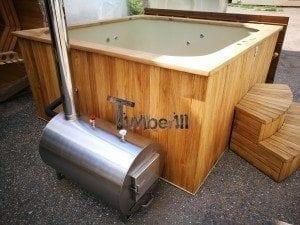 Hot tub mit Holzbefeuerung eckig Modell 18