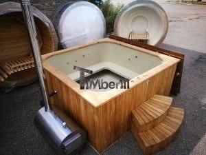 Hot tub mit Holzbefeuerung eckig Modell 22