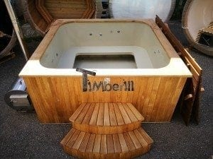 Hot tub mit Holzbefeuerung eckig Modell 26