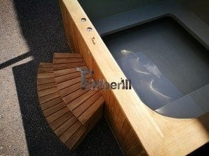 Hot tub mit Holzbefeuerung eckig Modell 29