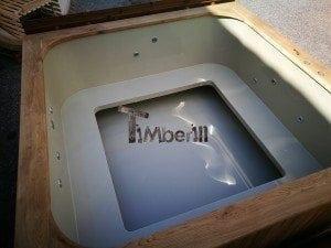 Hot tub mit Holzbefeuerung eckig Modell 33