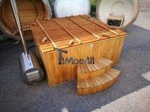Hot tub mit Holzbefeuerung eckig Modell 37