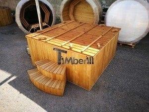 Hot tub mit Holzbefeuerung eckig Modell 39