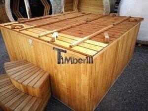 Hot tub mit Holzbefeuerung eckig Modell 40