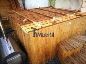 Hot tub mit Holzbefeuerung eckig Modell 41