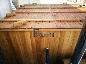 Hot tub mit Holzbefeuerung eckig Modell 42