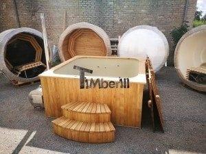 Hot tub mit Holzbefeuerung eckig Modell 5