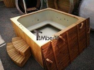 Hot tub mit Holzbefeuerung eckig Modell 6