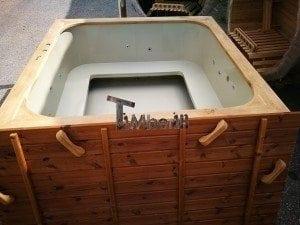 Hot tub mit Holzbefeuerung eckig Modell 7