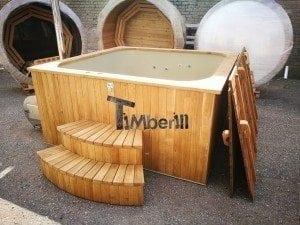 Hot tub mit Holzbefeuerung eckig Modell 9