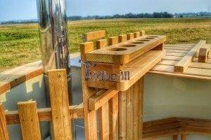 Luxus Holz Thermo Badefass mit Kunststoffeinsatz 1