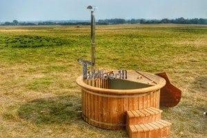 Luxus Holz Thermo Badefass mit Kunststoffeinsatz 15