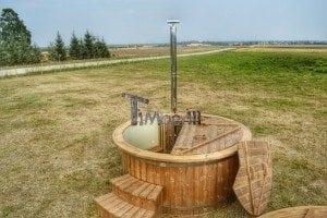 Luxus Holz Thermo Badefass mit Kunststoffeinsatz 16