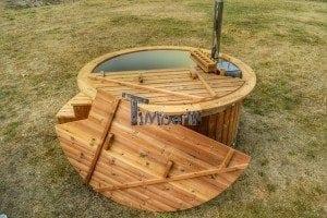 Luxus Holz Thermo Badefass mit Kunststoffeinsatz 17