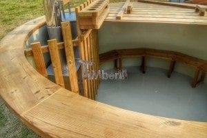 Luxus Holz Thermo Badefass mit Kunststoffeinsatz 2