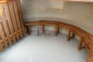 Luxus Holz Thermo Badefass mit Kunststoffeinsatz 24