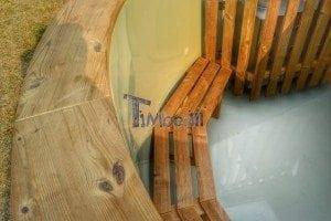 Luxus Holz Thermo Badefass mit Kunststoffeinsatz 25