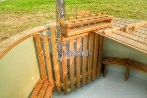 Luxus Holz Thermo Badefass mit Kunststoffeinsatz 26