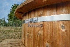 Luxus Holz Thermo Badefass mit Kunststoffeinsatz 4