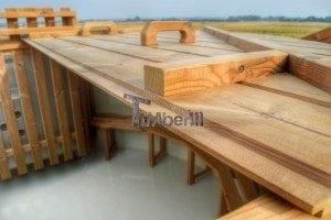 Luxus Holz Thermo Badefass mit Kunststoffeinsatz 6