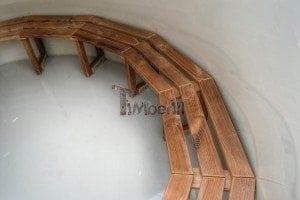 Luxus Holz Thermo Badefass mit Kunststoffeinsatz 8