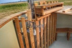 Luxus Holz Thermo Badefass mit Kunststoffeinsatz 9