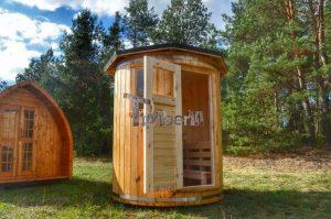 Vertikal Sauna aus Holz mit Elektroofen oder Holzofen 5