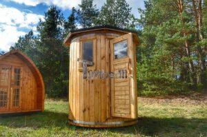 Vertikal Sauna aus Holz mit Elektroofen oder Holzofen 6