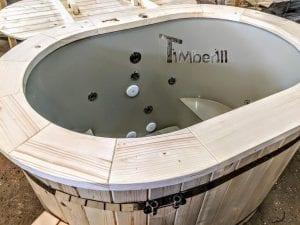 Badefass oval mit Kunststoffeinsatz für 2 Personen 12 1
