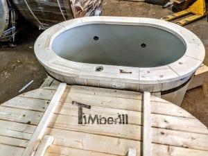 Badefass oval mit Kunststoffeinsatz für 2 Personen 17 1
