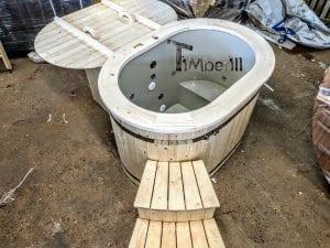Badefass oval mit Kunststoffeinsatz für 2 Personen 3 1