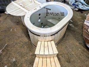 Badefass oval mit Kunststoffeinsatz für 2 Personen 4 1