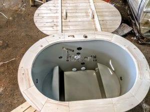 Badefass oval mit Kunststoffeinsatz für 2 Personen 7 1
