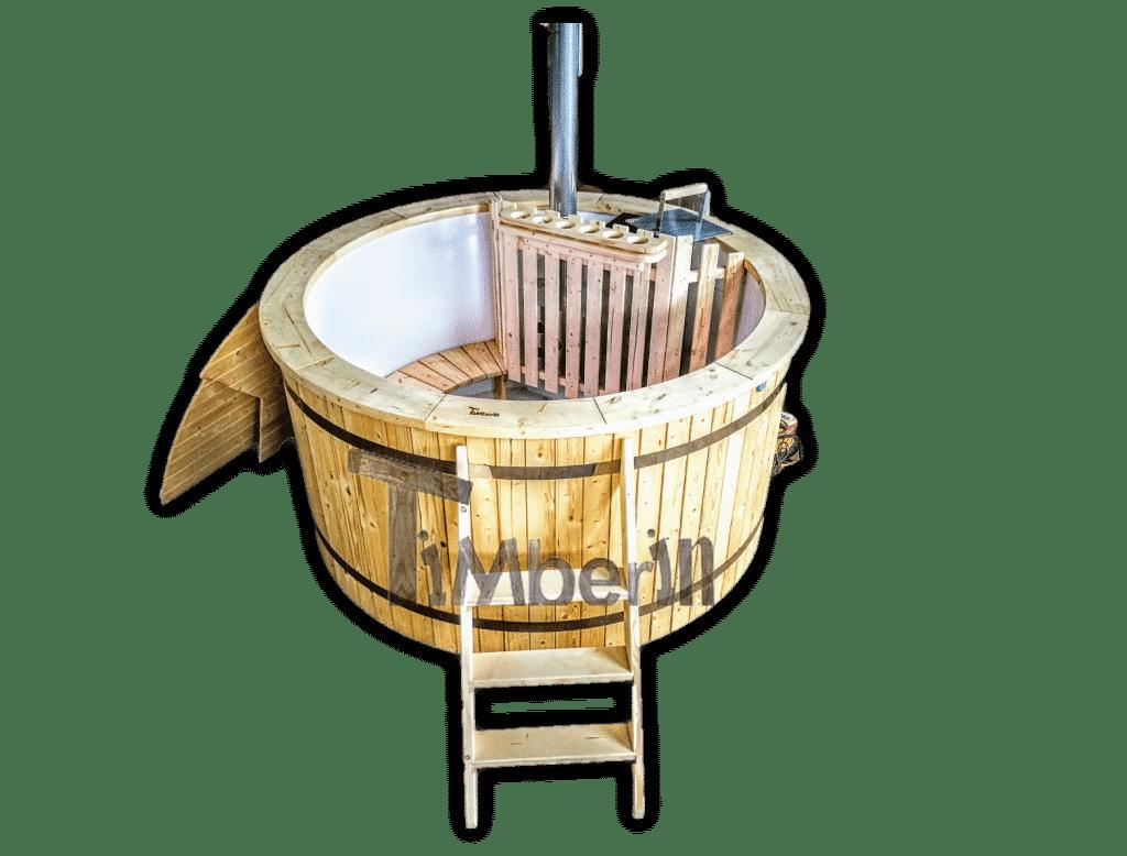 Badetonne Badefass 180 Kunststoff mit Innenofen