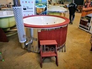 Badezuber GFK Wellness Royal mit Holzfärbung rot 21