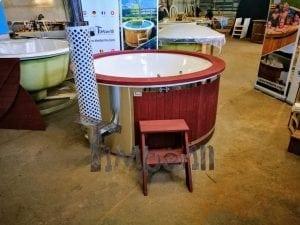Badezuber GFK Wellness Royal mit Holzfärbung rot 22
