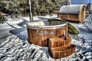 Badetonne Badezuber Badebottich Badefass Im Winter