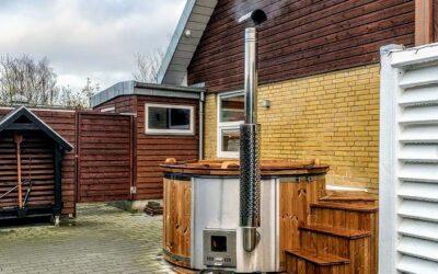 Holz-Badezuber mit integriertem Holzofen – eine Bewertung